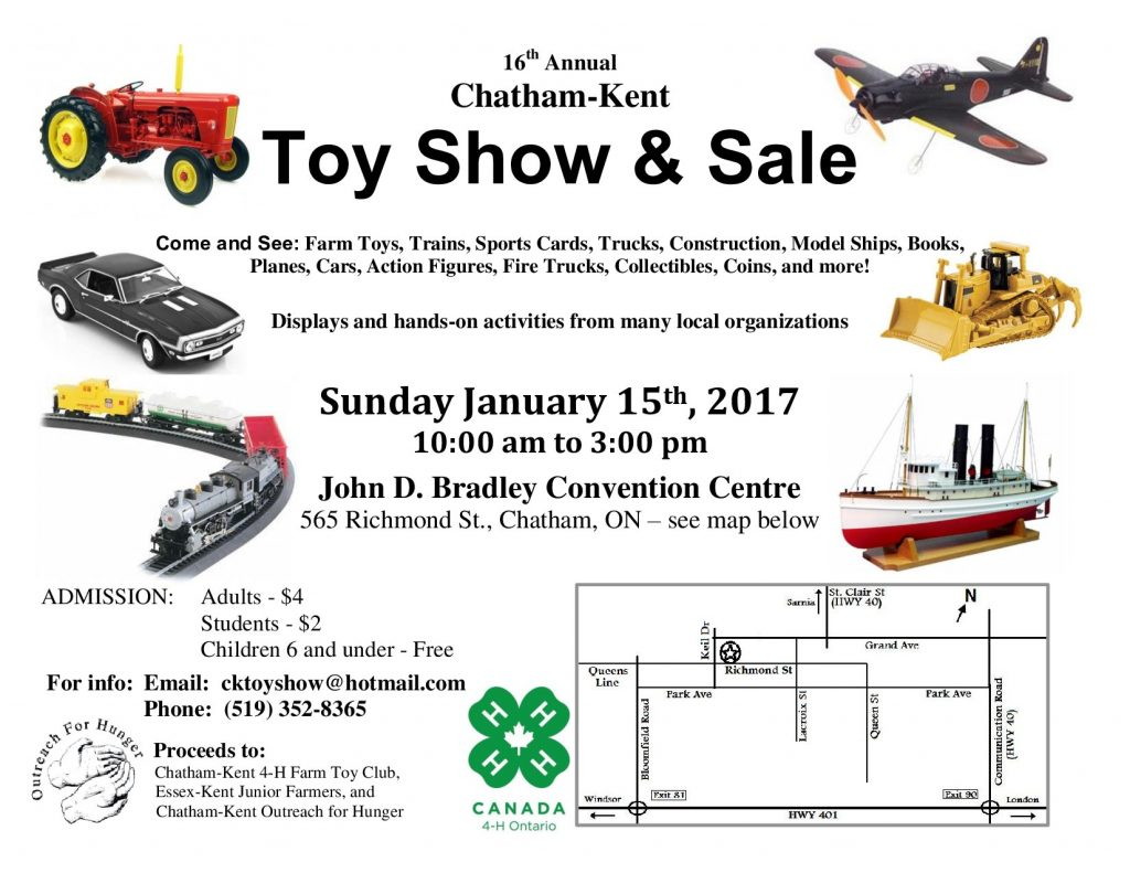 Upcoming Events | Chatham-Kent Toy Show & Sale | Chatham ...